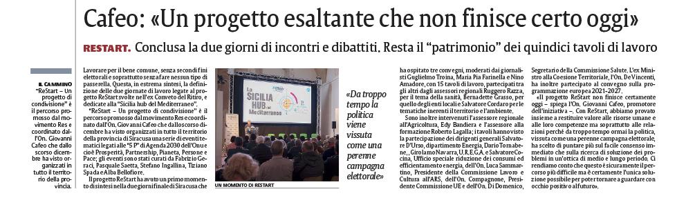 ReStart | La Sicilia